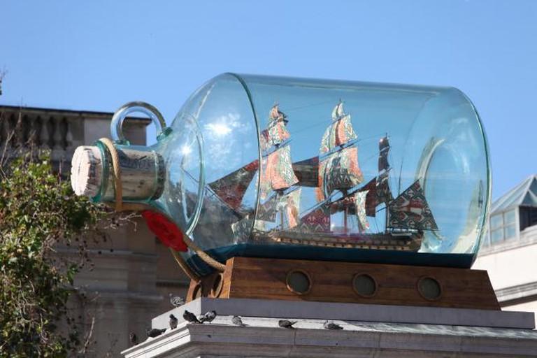 Nelson's Ship in a Bottle by Yinka Shonibare
