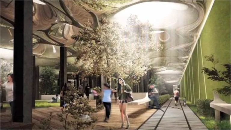 'A rendering of the proposed Lowline park design,' 2012 | © TheLowline/WikiCommons