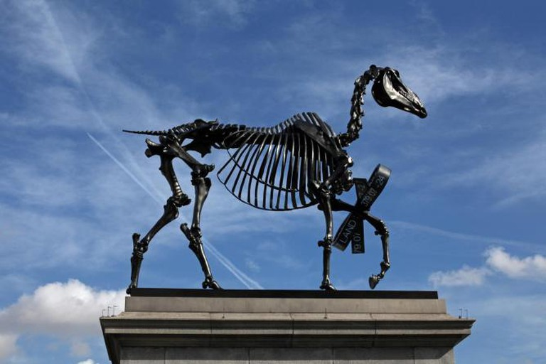 Hans Haacke Gift Horse Commissioned for the Mayor of London's Fourth Plinth Programme copyright Gautier Deblonde