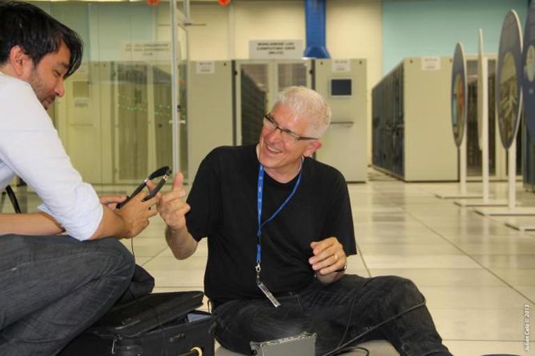 Bill Fontana and Subodh Patil at CERN Data Center Photo by Julian Calo © Courtesy of CERN