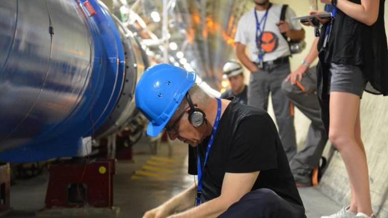 Bill Fontana in LHC Photo by Michael Fontana © Courtesy of CERN