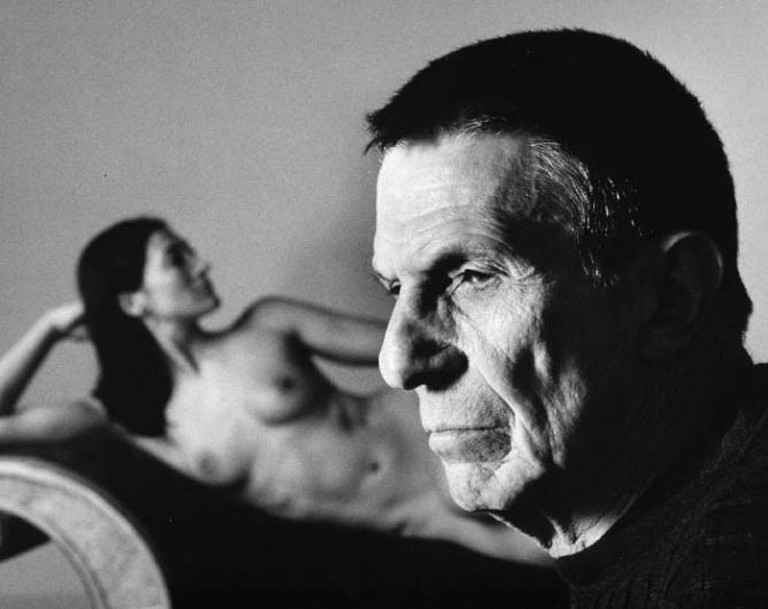 Leonard Nimoy Selft Portrait with Shekhina | Image courtesy of R.Michelson Galleries