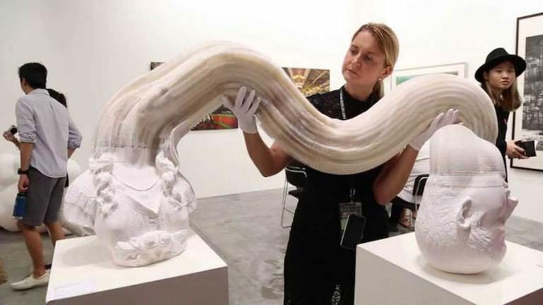One of Li Hongbo's sculptures in motion, 2014. © ArtQuid Team/WikiCommons
