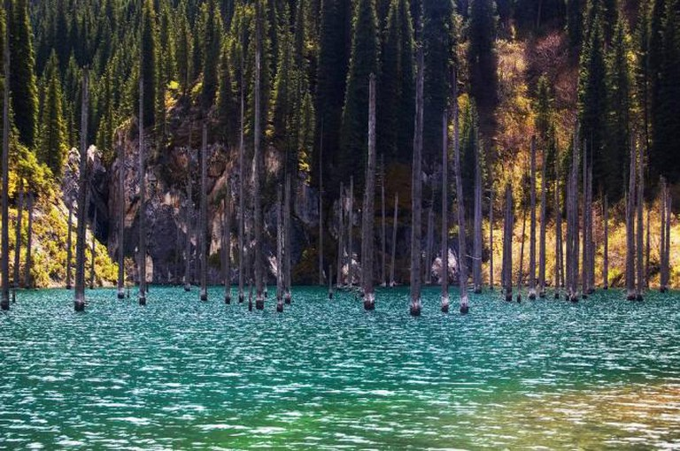Lake Kaindy ©   Zhirayr Nersessian Flickr