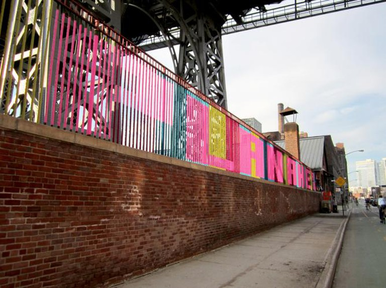 Knit graffiti by Magda Sayeg in NYC | © NYCStreets/Flickr