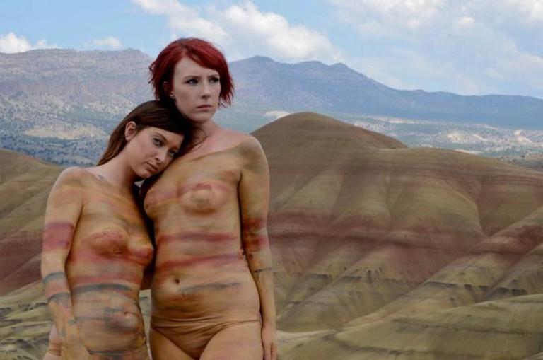 Painted Hills, body paint by Natalie Fletcher. Photo © Arthur Tripp