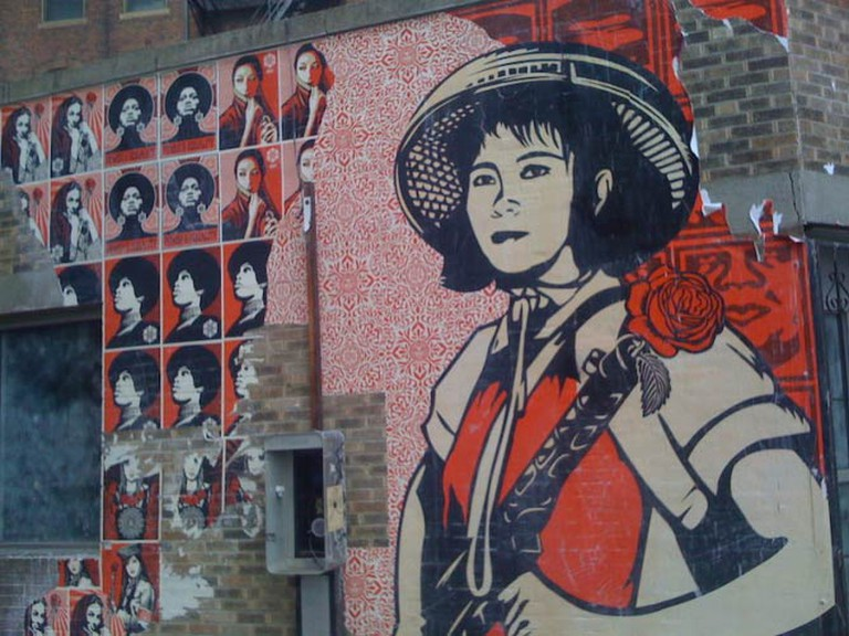 Shepard Fairey wall art in Boston | © Alexander.Steed/FlickrCommons
