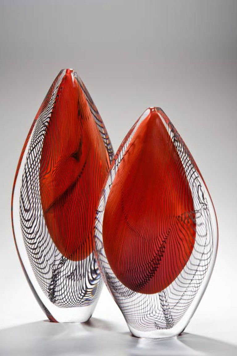 Peter Layton, Red Burano, Pair of Saliforms _ Courtesy Ester Segarra