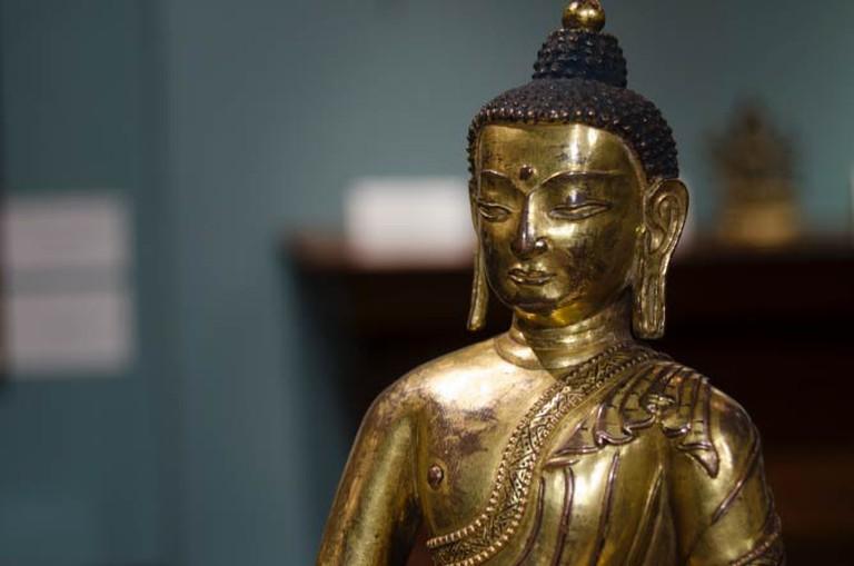 Tibetan Buddha at Vajrasana, 15th Century, Walter Arader Gallery | © Kseniya Baranova