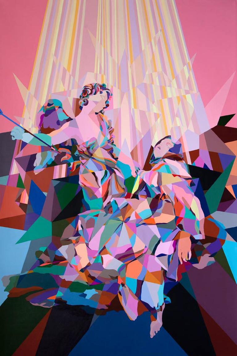 C. Finley Esctasy of Santa Theresa 111x73.5 acrylic on canvas 2015