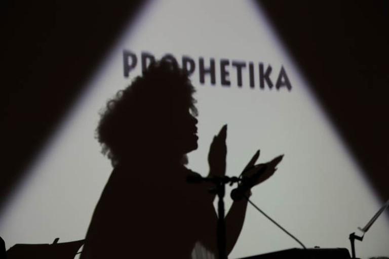 Jadele McPherson in Prophetika | Courtesy of La MaMa and  Hao Bai