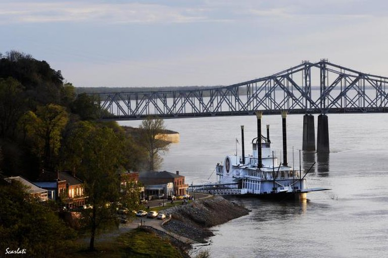Natchez Riverboat and Bridge | Courtesy of Jessica Cauthen