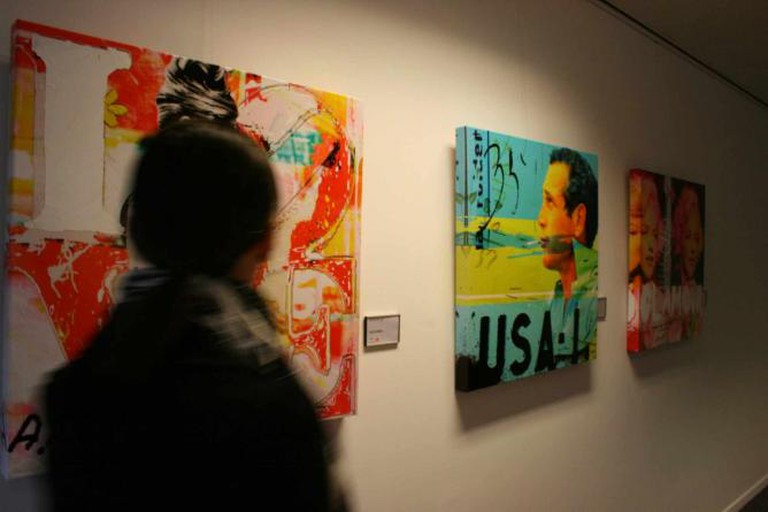 This image shows an exhibition by Dganit Blechner.
