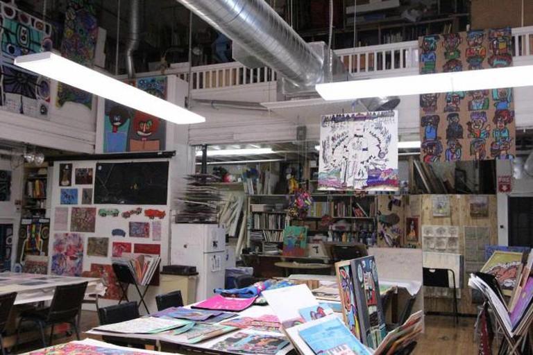 Artist Studio at Creativity Explored | Image Courtesy of Sara Faye London
