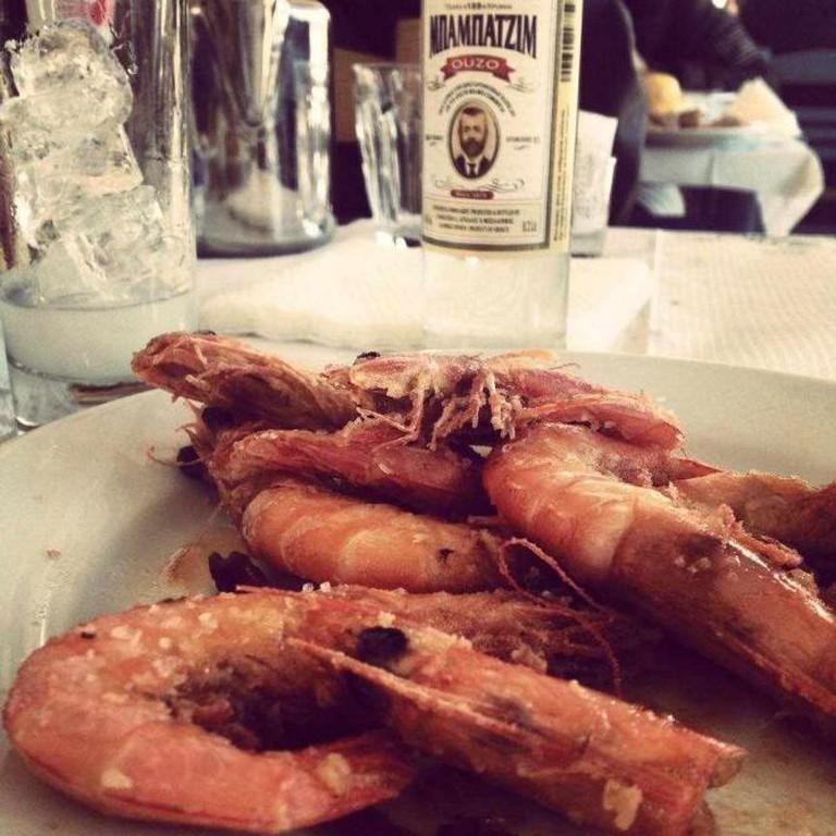 King prawns & ouzo | Courtesy of Margaro