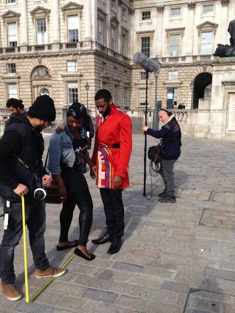 The Hip-hop Shakespeare/ 'In My Mind's Eye' project in action at Somerset House | © THSC