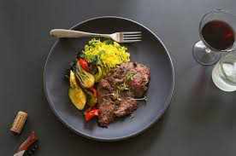 Spicy Japanese Char Broiled Beef with Sautéed Vegetables and Coconut Basmati Rice | Munchery on Pinterest