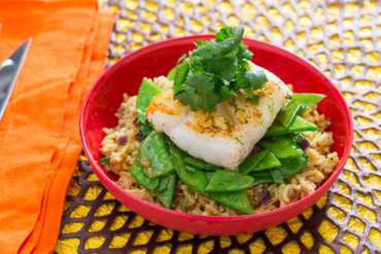Pan-Seared Cod with Curried Basmati Rice | Blue Apron