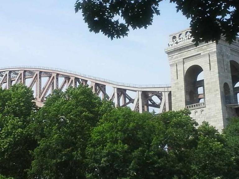 Bridge view in Astoria Park.