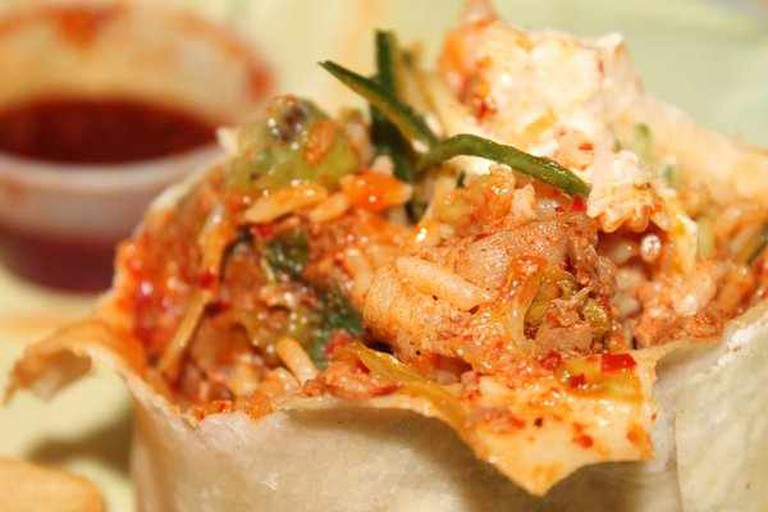 Kimchi Burrito with Spicy Pork| @Lana N. /Yelp
