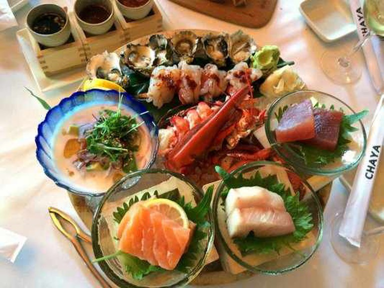 Seafood appetizer sampler| @Vi L. /Yelp