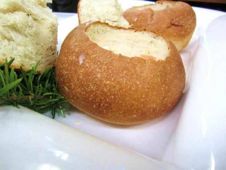 New England Clam Chowder Bread Bowl
