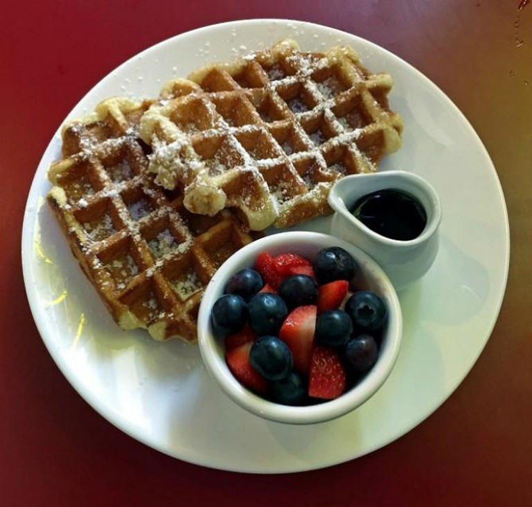 Ed's Diner, Waffles With Blueberries and Strawberries   © Homegirl London