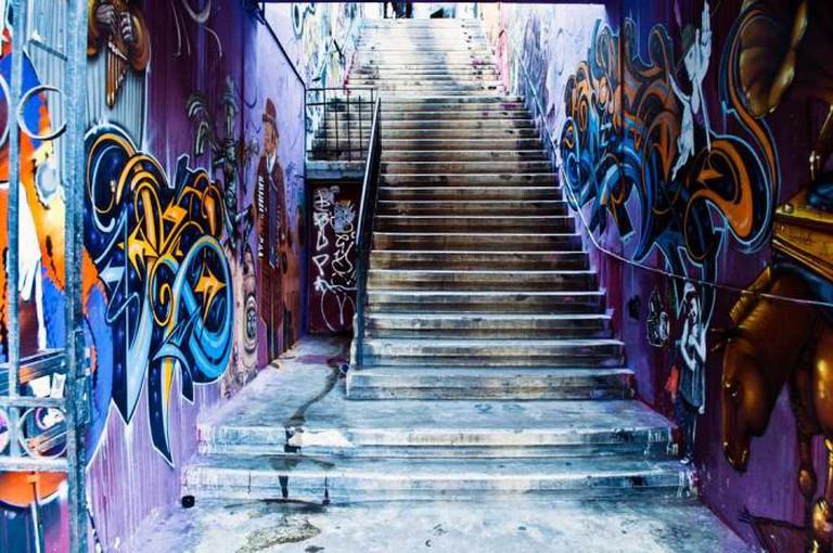 Street art by Alapinta, Charquipunk, Fisek, Inti, Jaz, Jehkse, Ocupeacidade and El Odio © Igal Malis/Flickr