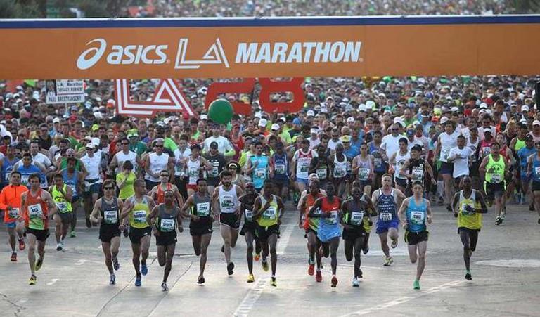 LA Marathan via LA Times