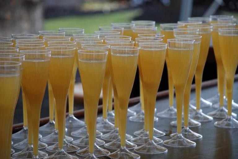 Mimosas Lined Up At Brunch   © Joe Shlabotnik / Flickr
