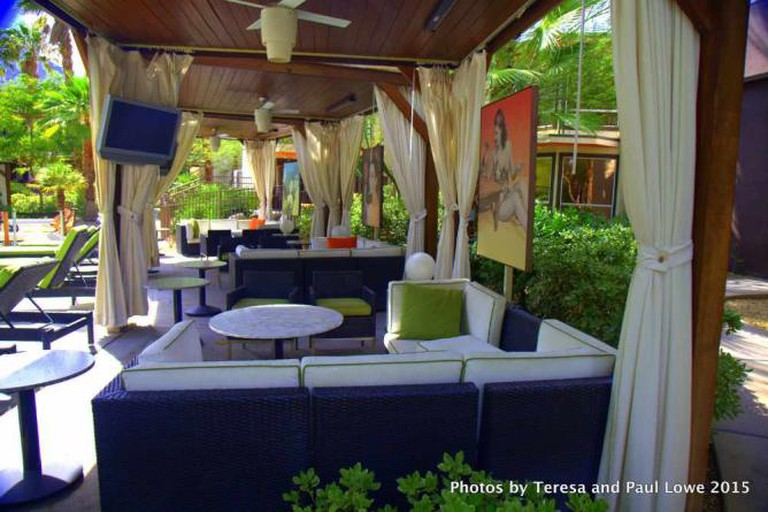 Beautifully appointed cabanas take you back to the time wen the rat pack hung out poolside here at the Riviera Resort and Spa