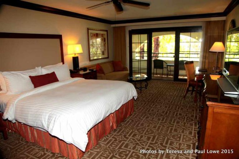 Enjoy the summer and Palm Springs Restaurant Week in your spacious suite at the Omni Rancho Las Palmas Resort