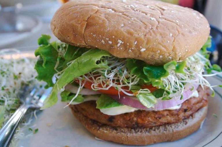 Veggie Burger @Hochgeladen von Veggieburgerfan/WikiCommons
