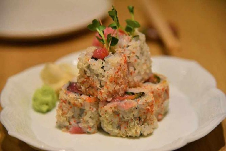Spicy Tuna Sushi Rolls: Image by Angie Silver