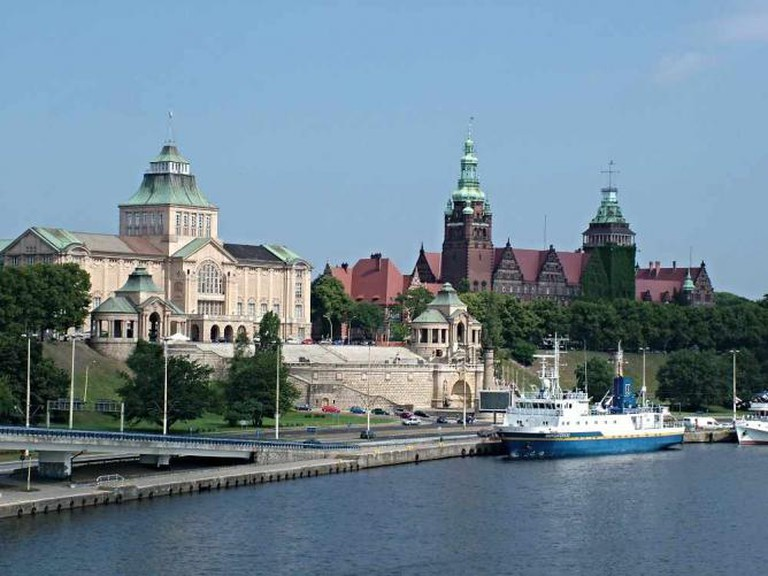 The Piast Boulevard and Szczecin's old town   © Horvat/WikiCommons