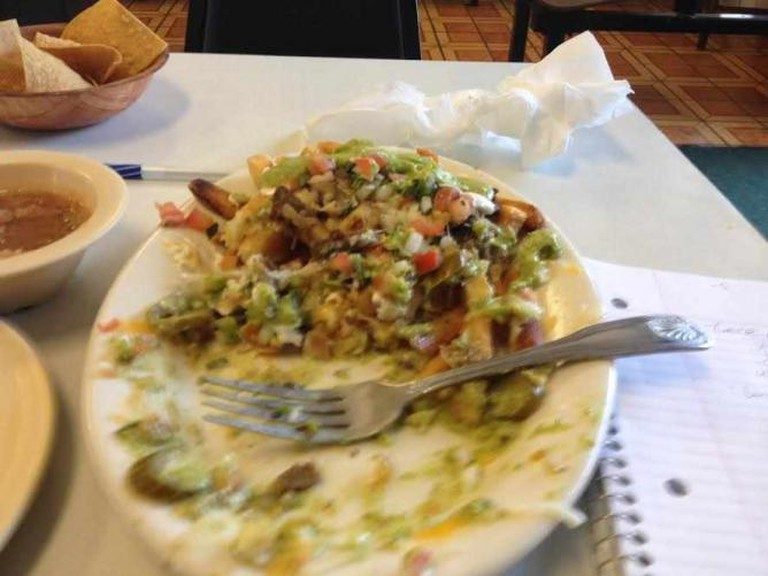The Carne Asada Fries at Pepe's Tacos.