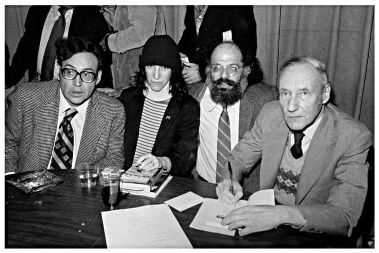 Carl Solomon, Patti Smith, Allen Ginsberg and William S. Burroughs at City Lights   © Marcelo Noah/Flikr