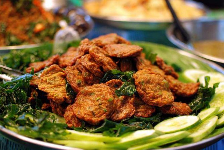 Thot man plakrai with fried basil