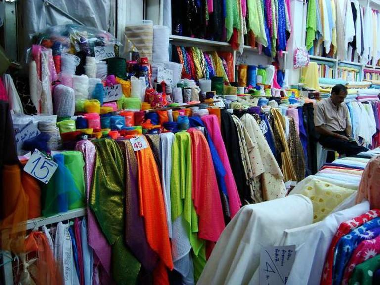 Thai silk in Sampeng Market