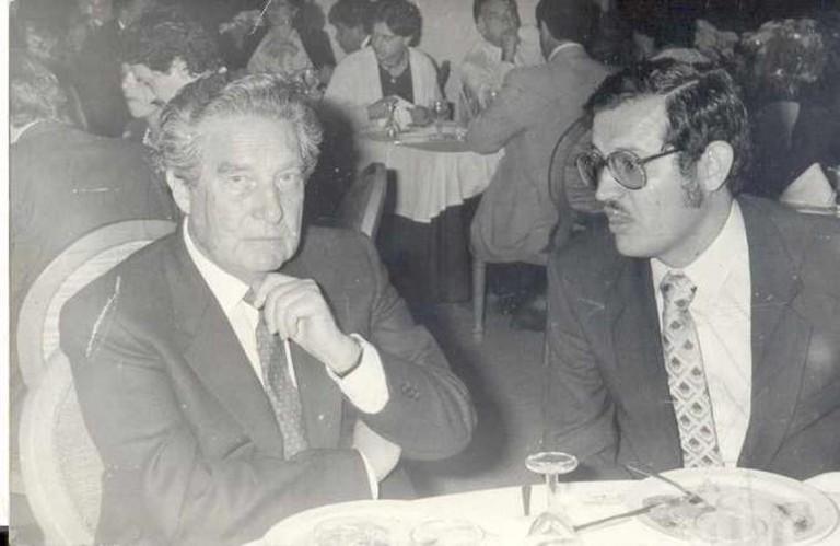 Octavio Paz with Heminio Martínez | © Royalwrote/WikiCommons