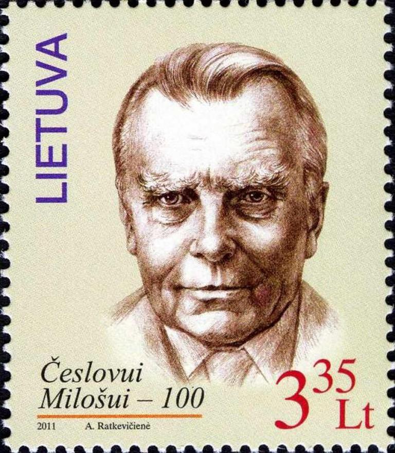 Lithuanian Czeslaw Milosz stamp | Public domain, WikimediaCommons
