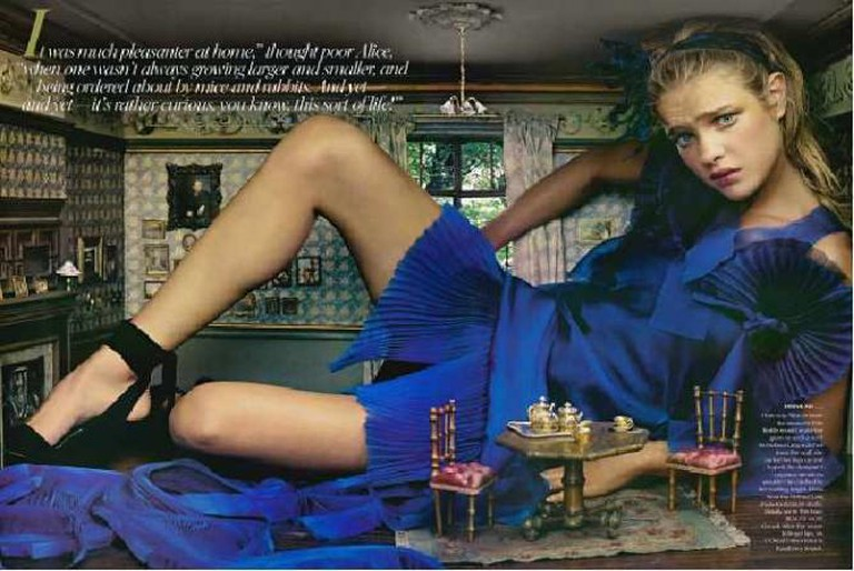 Natalia Vodianova as Alice for Vogue |© Annie Leibovitz