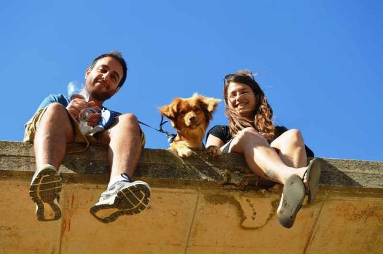 Itzik, Ofir and Chewbacca, the Dog, Courtesy of Yael Tamar