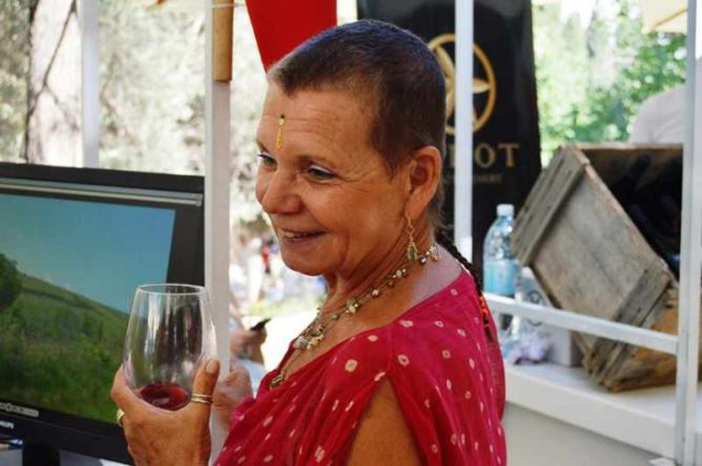 Nava, a Bat-Yam resident, at the Rosh Pinna Wine Festival, Courtesy of Yael Tamar