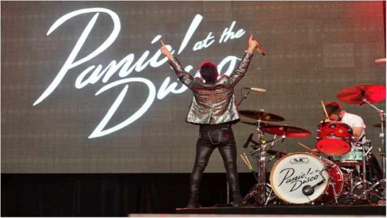 Panic! At The Disco performing at the Shoreline Amphitheater on Saturday June 6th, 2015. (Photo: Steve Jennings)