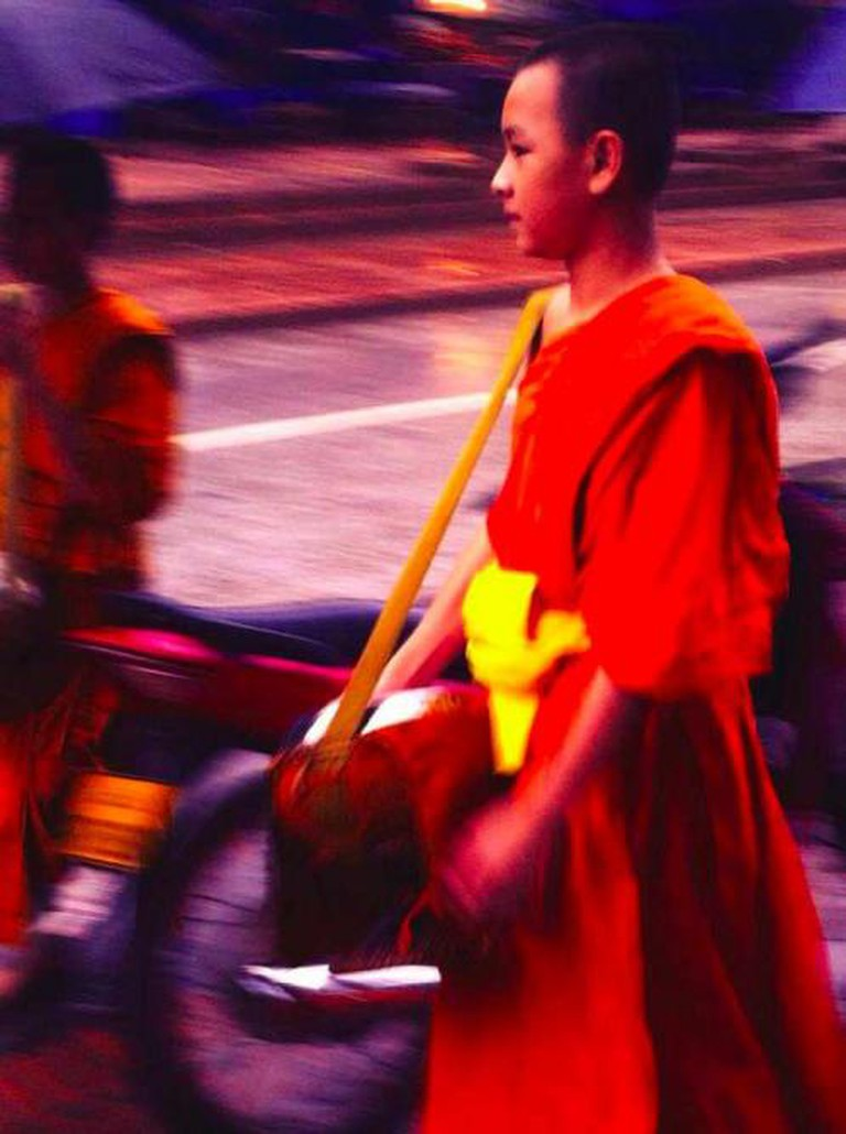 Monk Collecting Food By:Doriel Mizrachi