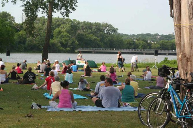 Saturday Yoga at Gray's Lake, IA