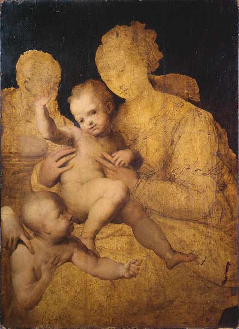 Perino del Vaga, Holy Family with Saint John the Baptist © The Courtauld Gallery