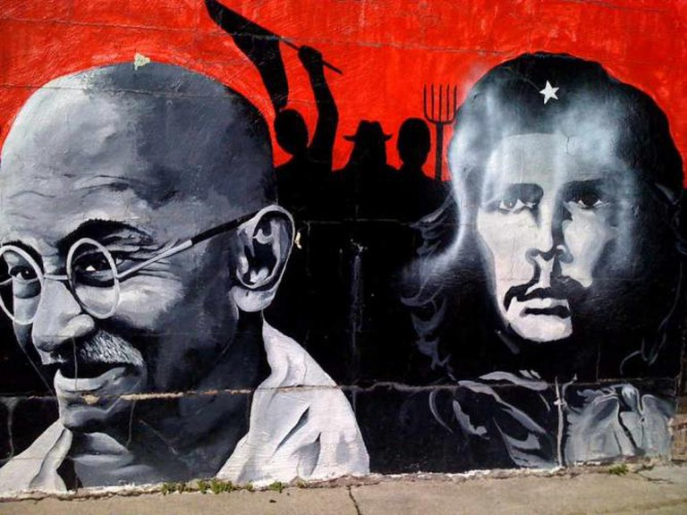 Mahatma Gandhi and Che Guevara, Mural in Wicker Park