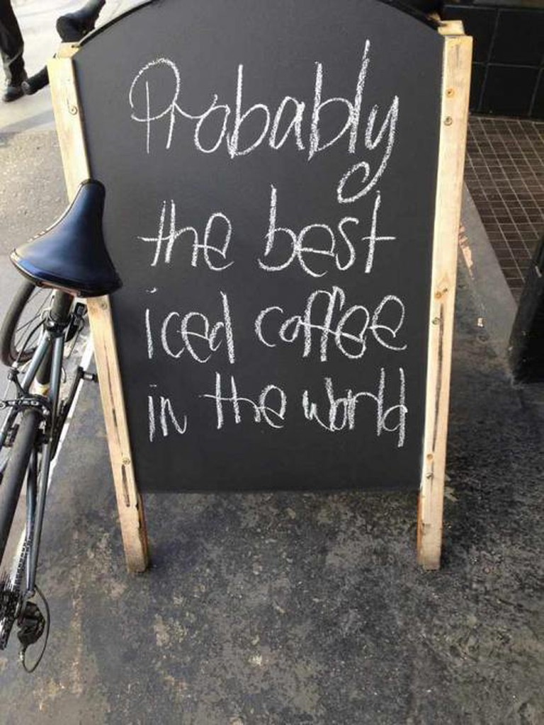 Blackboard Outside Kaffeine Coffeeshop | © Kaffeine